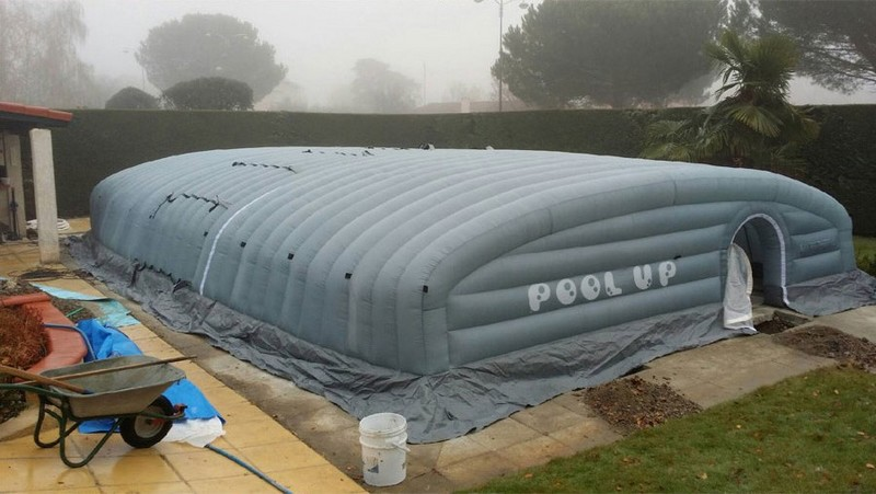 R novation de liner en vend e for Abri piscine pool up